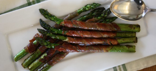 Griddled Asparagus with Serrano
