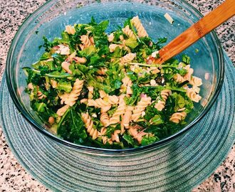 Cucumber Arugula Pasta Salad - Running Out of Thyme