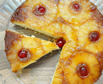 Easy Pineapple Upside-Down Cake (пирог с ананасами)