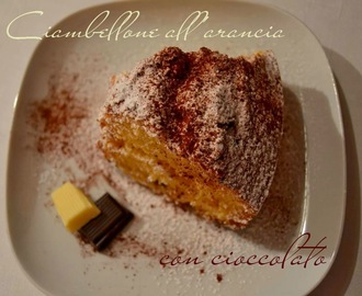 Ciambellone all'arancia con cioccolate