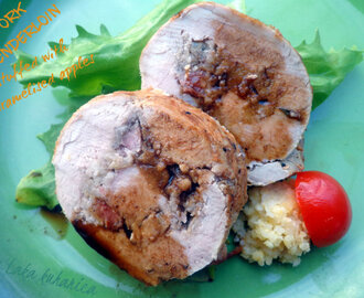 Svinjski file punjen karameliziranim jabukama :: Pork tenderloin stuffed with caramelised apples