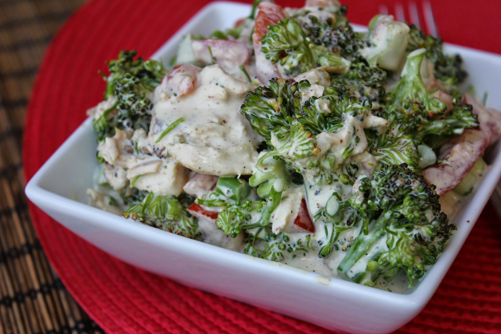 Mustard Chicken Broccoli Salad