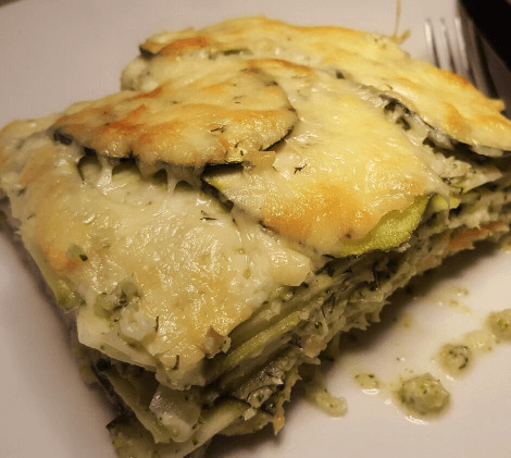 Broccoli en courgette lasagne