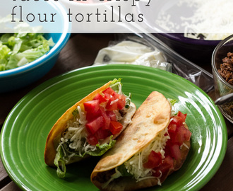 Tacos in Crispy Flour Tortilla Shells