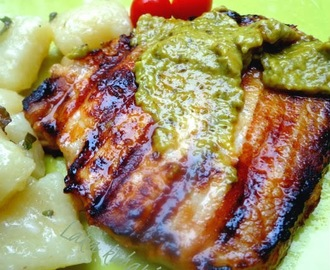Kotleti s timijanom i pestom::Pork chops with thyme and pesto