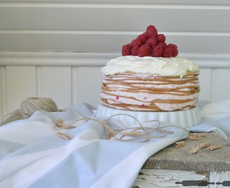 Himbeer Crêpe Torte / Crepe Cake with Raspberries