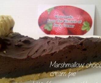 Marshmallow Chocolate Cream Pie