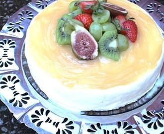 Frozen cheesecake med lemon curd