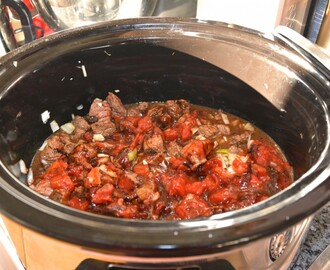 Mustig chiligryta i Crock-Pot
