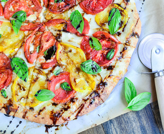 Three Cheese Caprese Pizza