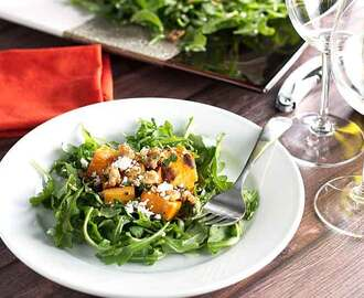 Roasted Sweet Potato and Arugula SaladSkip to Recipe