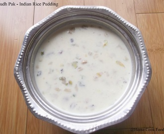 Doodh Pak and Poori |  Indian Rice pudding with Fluffy Indian bread