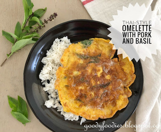 Recipe: Thai-style omelette with pork and basil (Kai Jeow Moo Sab)