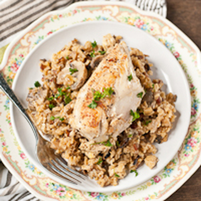 Chicken and Mushroom Wild Rice Pilaf