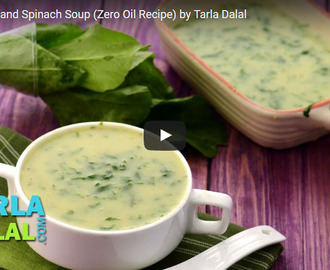 Moong Dal and Spinach Soup Recipe Video