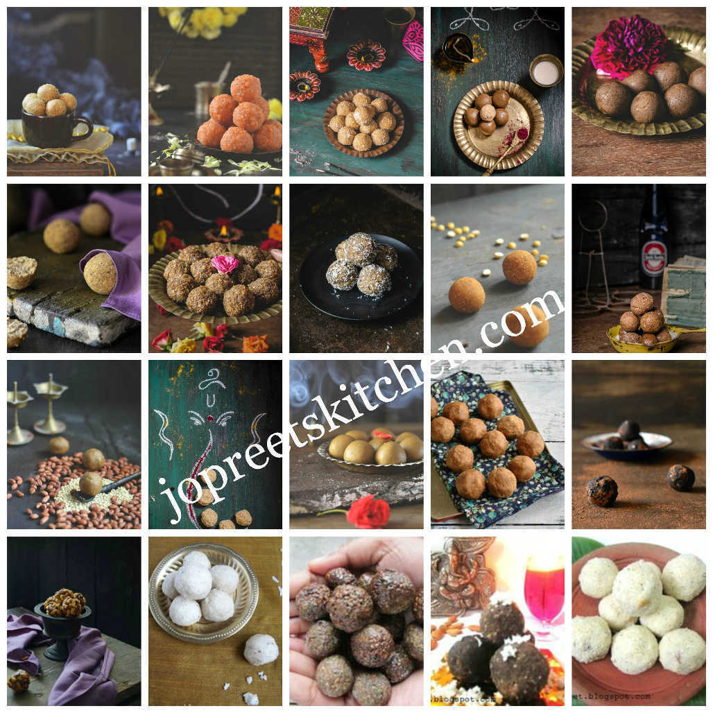 Collection of 20 Ladoo Recipes (Indian Festival Sweet Recipes) - Diwali Recipes