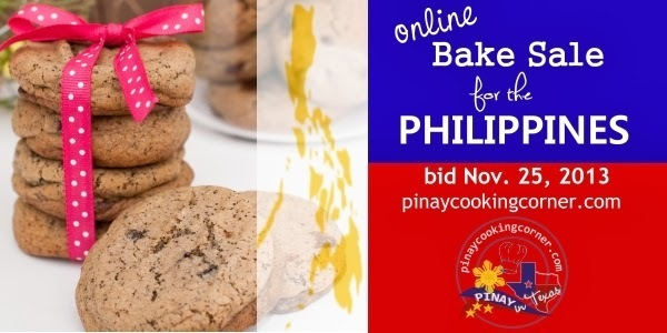 Online Bake Sale for the Philippines 11/25/2013
