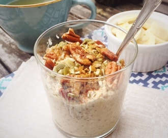 Over night oats med kardemumma (glutenfritt, vegan)
