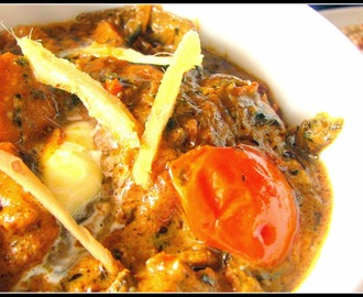 Paneer Methi Malai (Creamy cottage cheese curry flavored with dry fenugreek leaves)