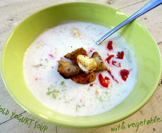 Hladna juha od jogurta s povrćem :: Cold yogurt soup with vegetables