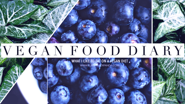 VEGAN FOOD DIARY