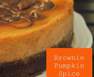 Brownie Pumpkin Spice Cheesecake