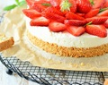 Erdbeere-Cheesecake mit Cantucciniboden
