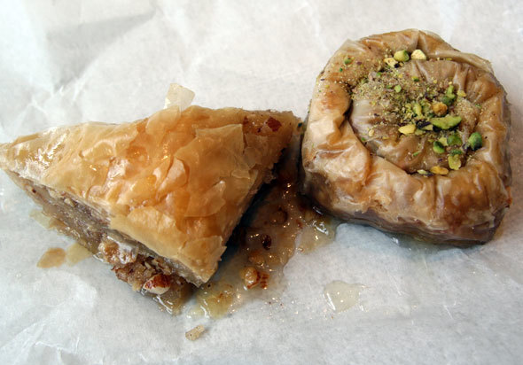 baklava (traditional greek pastry)