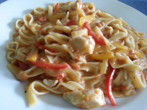 Cajun Chicken Pasta in Alfredo Sauce