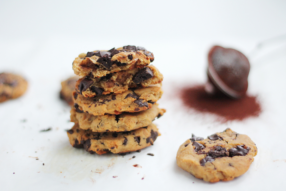 Nyttiga chocolate chip cookies