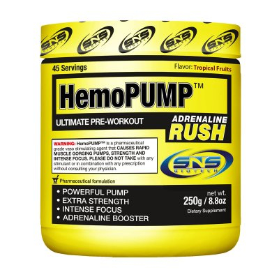 SNS HemoPump Adrenaline Rush 250 g (Smak: Fruit punch)