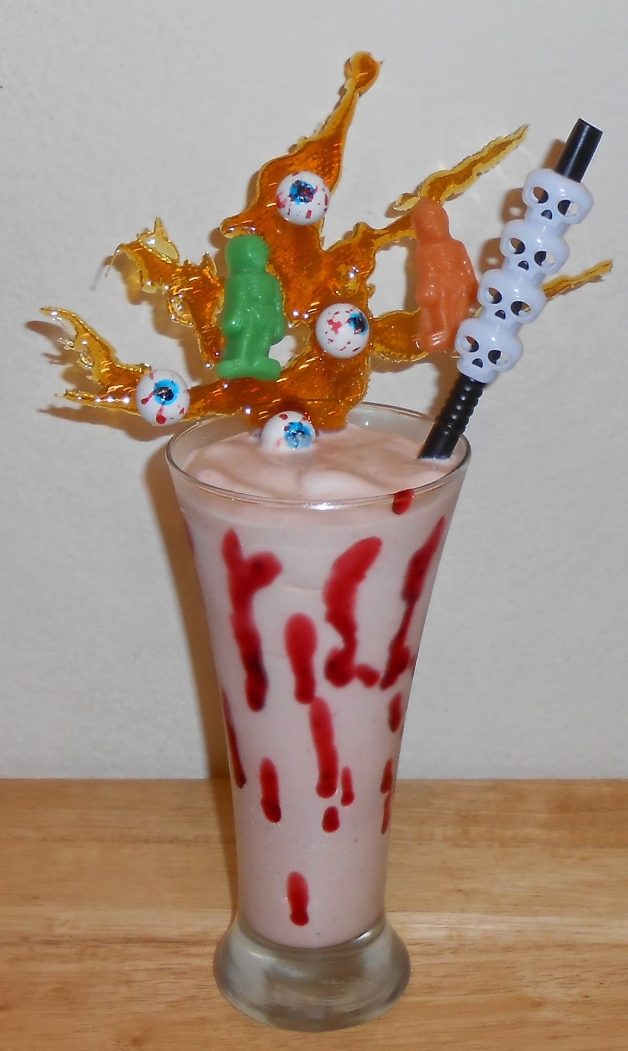 Banana Cherry Moonshine Voodoo Tree Shake - Halloween Cuisine!