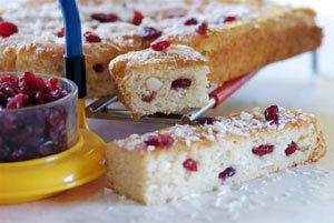 Cranberry and White Chocolate Squares Recipe