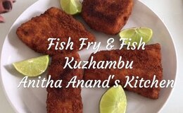 Family Sunday NonVeg Meal#4 - Fish Fry & Fish Gravy - 1080p Full HD Anitha Anand  Anitha Anand