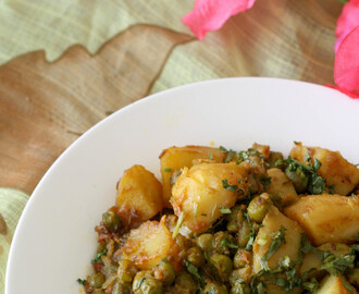 Aloo Mutter(Potato and Green peas)