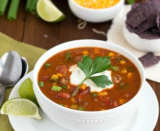 {Slow Cooker} Fiesta Ranch Taco Soup
