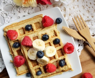 Basic Vanilla Coconut Flour Waffles [Gluten Free] + 10% off Teami Blend Tea!