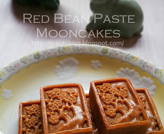 豆沙莲蓉月饼 Red Bean Paste Mooncakes