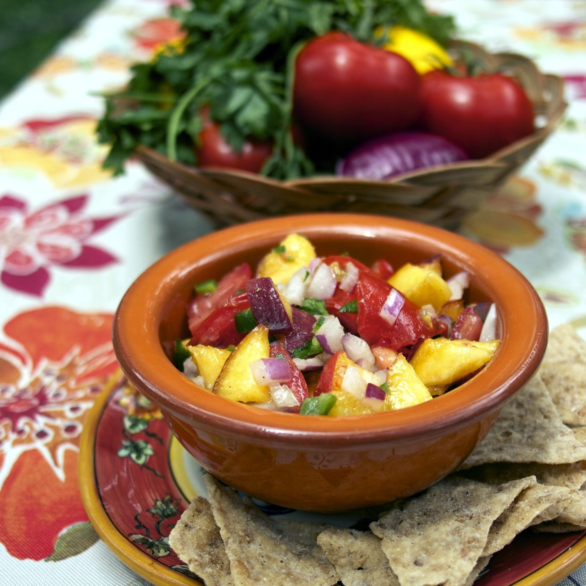 Summer Peach Salsa  #It's All Greek to Me #Food of the World  #Weekly Menu Plan
