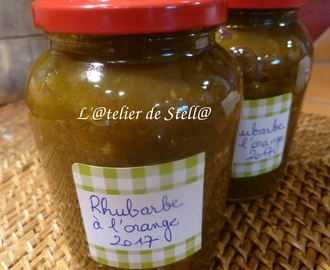 Confiture de rhubarbe à l'orange