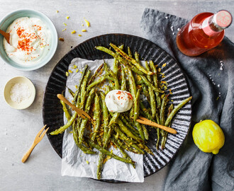 Knusprige Green Bean Fries aus dem Ofen
