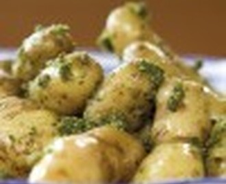 New Potatoes with Hazelnut Pesto