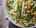 Easiest Ever 5 Minute Thai Peanut-Ginger Slaw