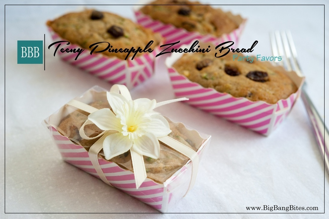 Teeny Pineapple Zucchini Bread Party Favors