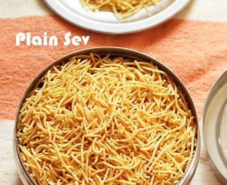 Plain Sev Recipe | Omapodi Recipe | Diwali Snacks