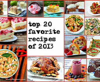 Top 20 Favorite Recipes of 2013
