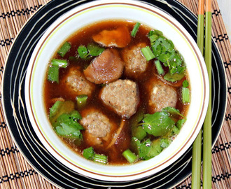Meatball and Mushroom Soup