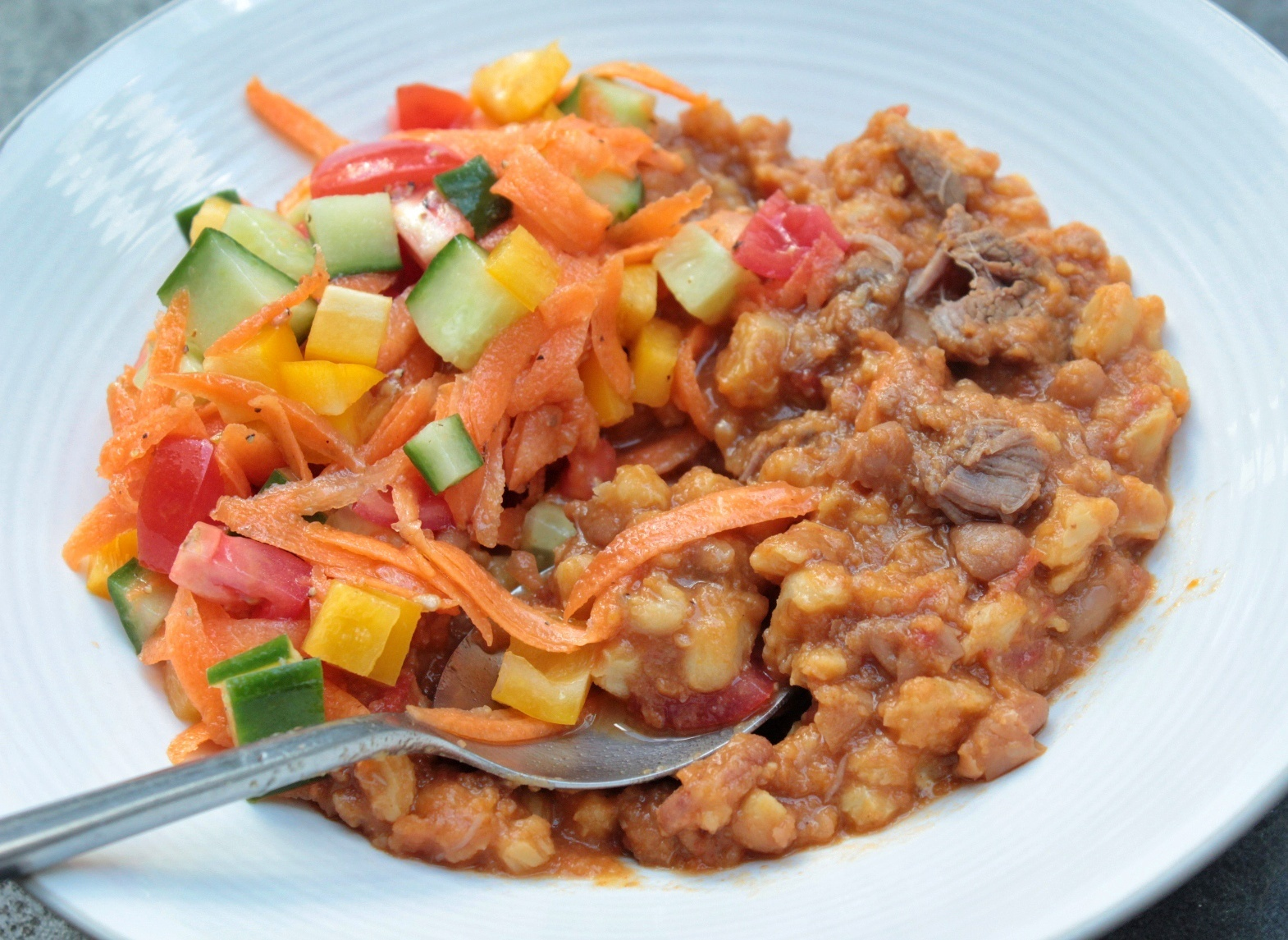 Meaty samp and bean stew