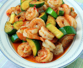 Sweet and Spicy Shrimp and Zucchini Stir-Fry