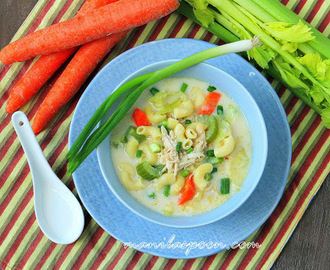 Creamy Chicken Sopas (Filipino Chicken Macaroni Soup)